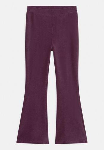 MANDY FLARE - Trousers - dark dusty lilac