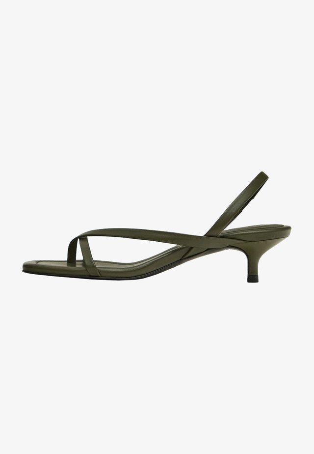 T-bar sandals - khaki