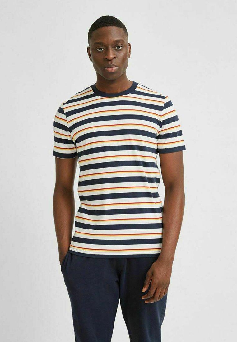 Selected Homme - T-shirt imprimé - sky captain