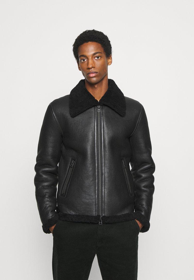 Goosecraft - LAMMY - Kožená bunda - black