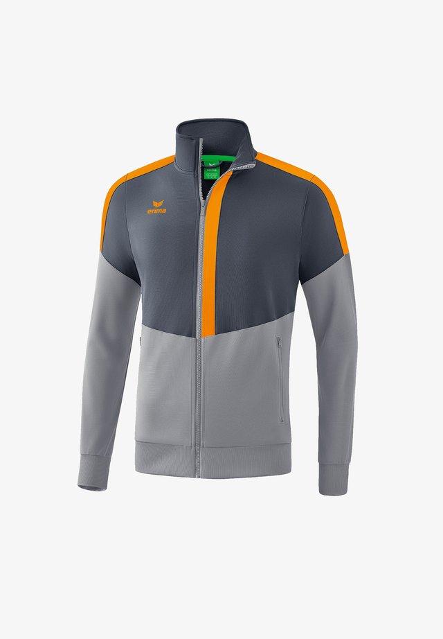 Training jacket - grauorange