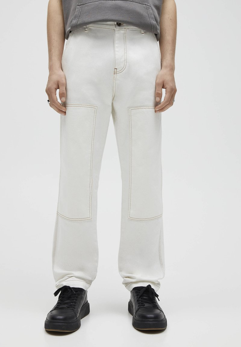 PULL&BEAR - Relaxed fit -farkut - white