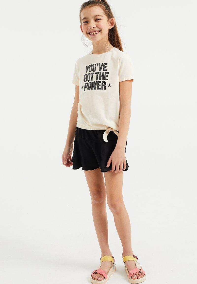 WE Fashion - Print T-shirt - off-white
