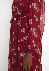 Vero Moda - VMFRAYA V NECK BALLOON DRESS - Shirt dress - cabernet - 4