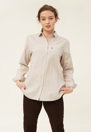 ISA LT  - Button-down blouse - light beige melange