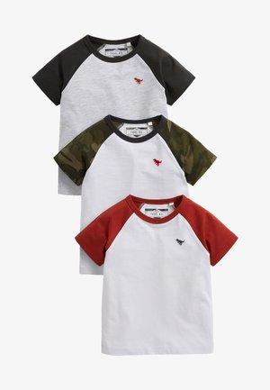 3PACK - T-shirt z nadrukiem - khaki