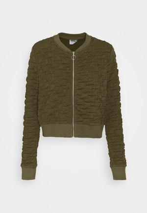NMANDY JACKET - Zip-up hoodie - olive night