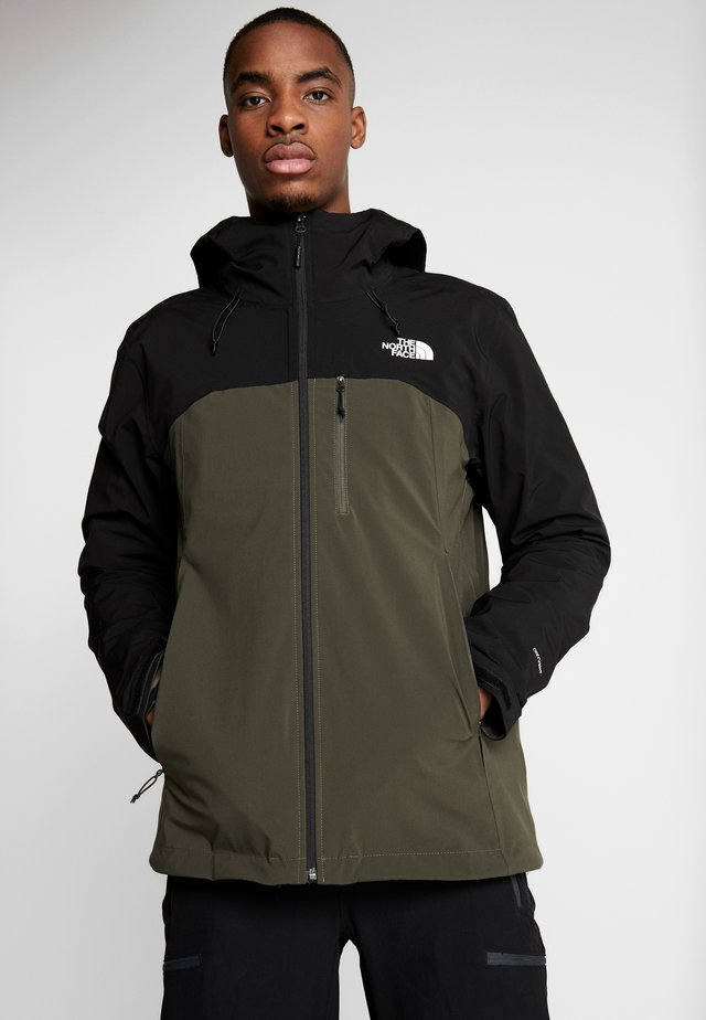 Hardshell jacket - new taupe green/black