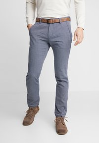 TOM TAILOR DENIM - STRUCTURED - Chinosy - blue - 0