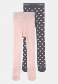 Ewers - HEARTS 2 PACK - Tights - grey/pink - 0