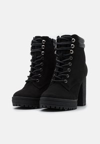 New Look Wide Fit - WIDE FIT BASE - Lace-up ankle boots - black - 2