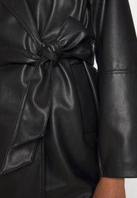 Monki - KIM COAT - Abrigo clásico - black dark - 4
