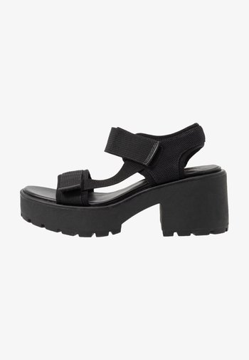 DIOON - Platform sandals - black
