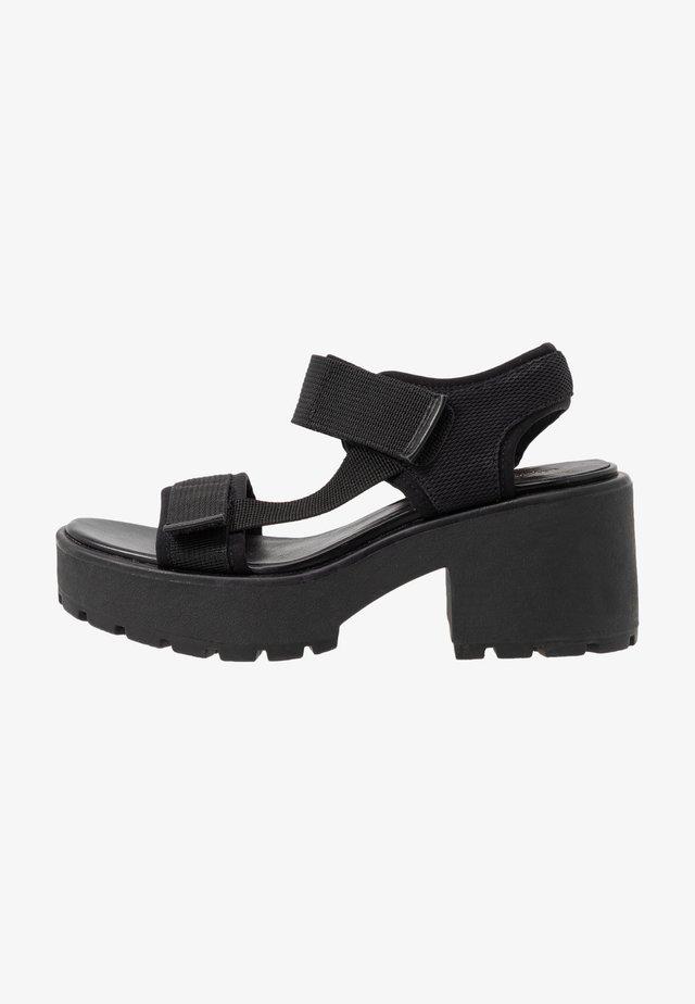 DIOON - Sandales à plateforme - black