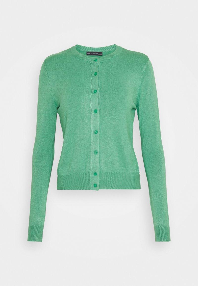 Marks & Spencer London - CREW CARDI PLAIN - Cardigan - light green