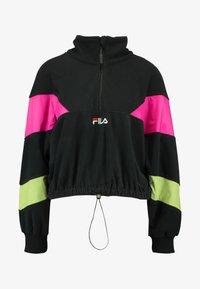 Fila - RAFIYA HALF ZIP - Bluza z polaru - black/pink yarrow/acid lime - 3