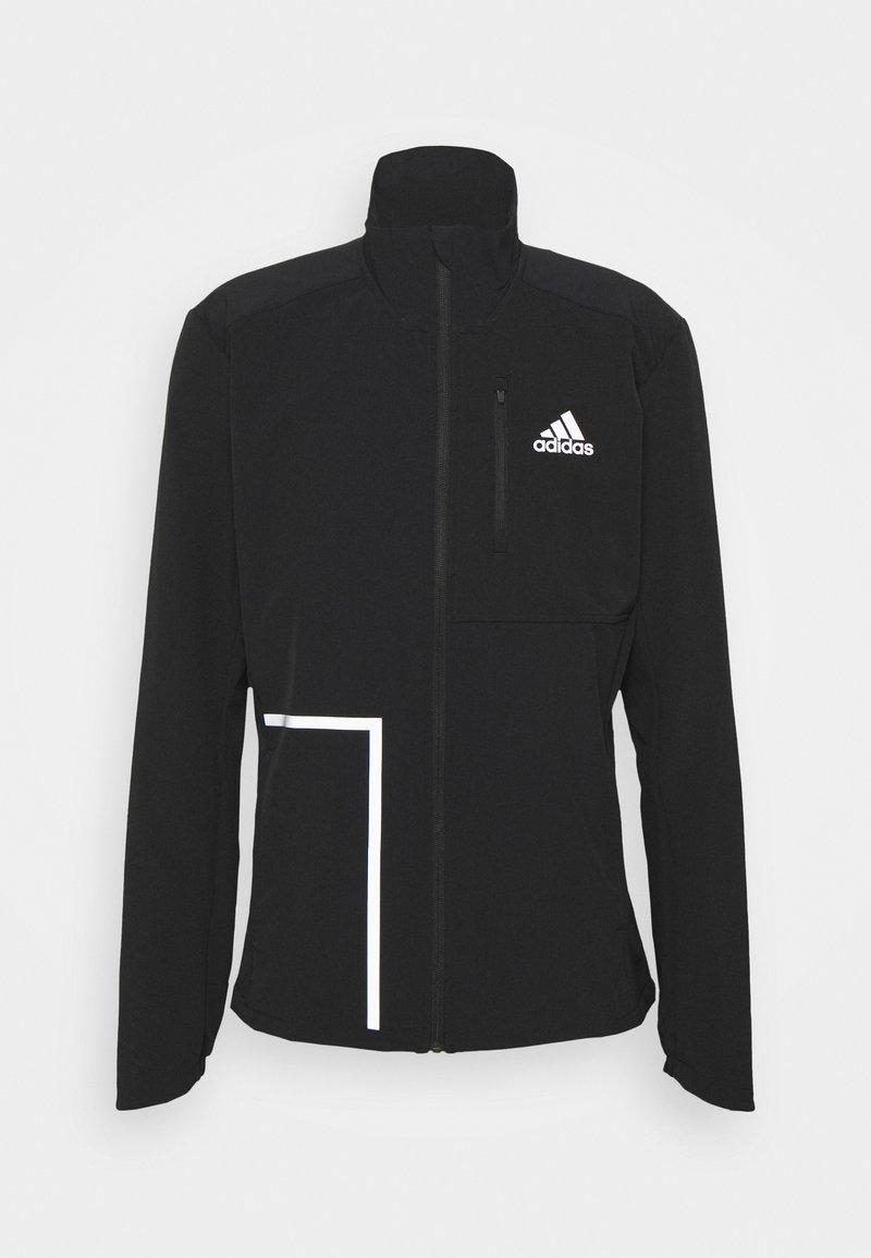 adidas Performance - OWN THE RUNNING RESPONSE PRIMEGREEN JACKET - Training jacket - black