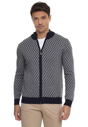 Vest - navy grey