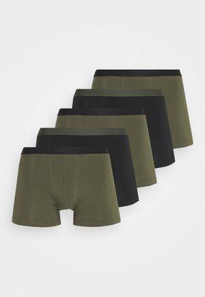 5 PACK - Boxerky - khaki/black