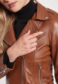 BTFCPH - EMMA - Leather jacket - cognac - 4