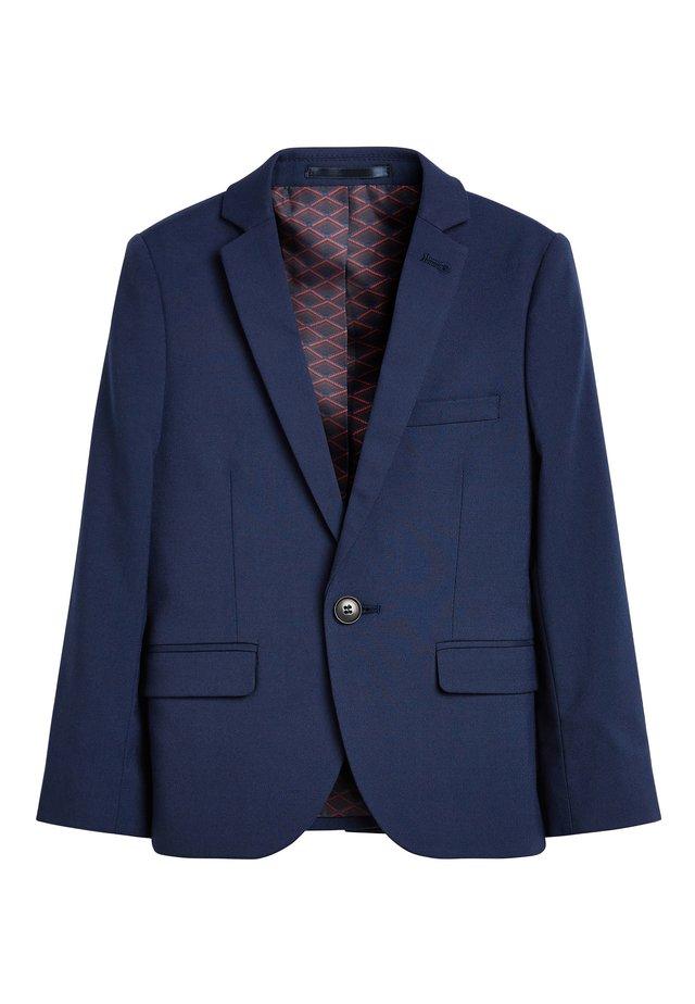 NAVY SKINNY FIT SUIT JACKET (12MTHS-16YRS) - blazer - blue