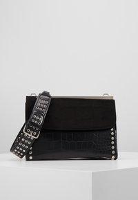 Topshop - RETRO STUDDED SHOULDER - Handbag - black - 0