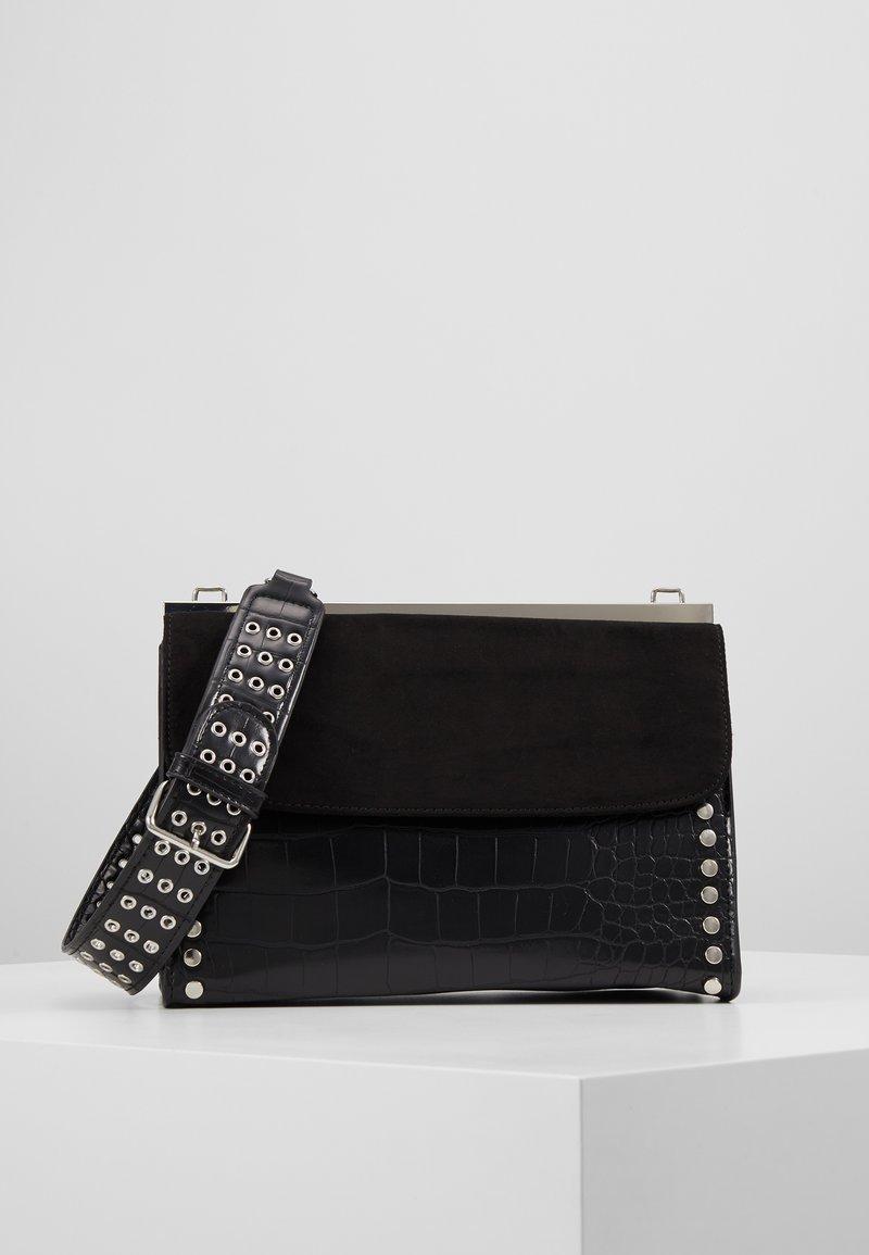 Topshop - RETRO STUDDED SHOULDER - Handbag - black