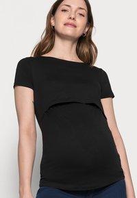 Anna Field MAMA - NURSING 2er PACK - Basic T-shirt - Camiseta básica - dark blue/black - 4