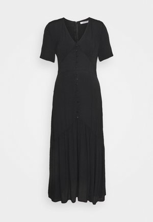 VNECK SHORT SLEEVE MIDI DRESS - Hverdagskjoler - black