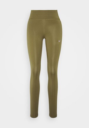 ONE COLORBLOCK - Tights - olive flak/metallic silver