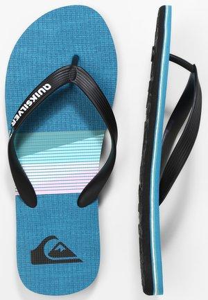MOLOKAI SEASONS  - Pool shoes - black/blue/black