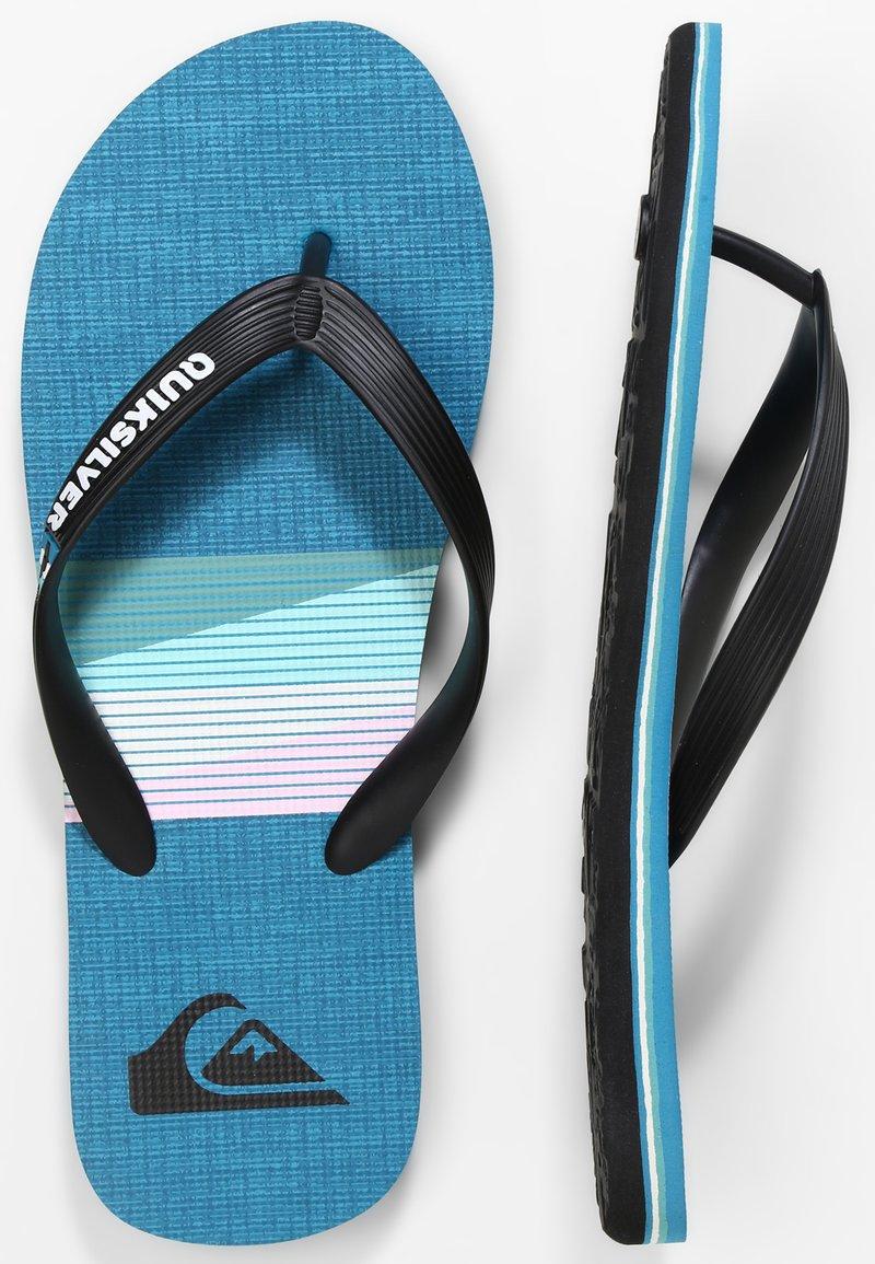 Quiksilver - MOLOKAI SEASONS  - Pool shoes - black/blue/black