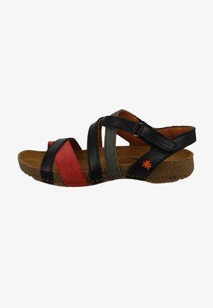 Sandalen - black red