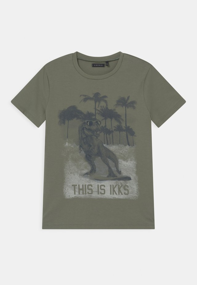 T-shirt print - kaki clair