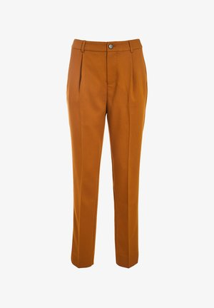 MIT ABNÄHER - Trousers - camel