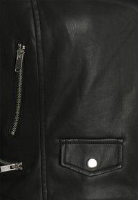 Simply Be - BIKER - Faux leather jacket - black - 2