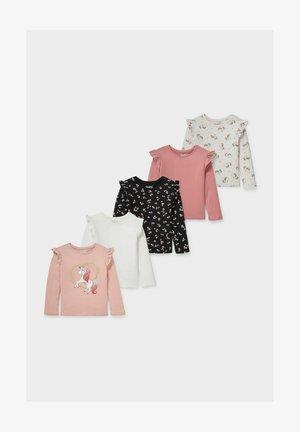 5 PACK - Long sleeved top - white / rose