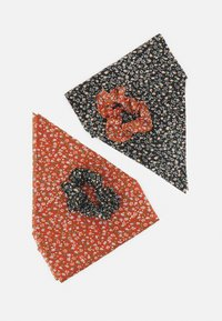 Pieces - PCMISSYBOW SCRUNCHIE 2 PACK - Hair Styling Accessory - black/ - 1