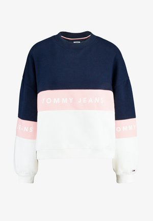 COLORBLOCK CREW - Sweatshirt - classic white/multi