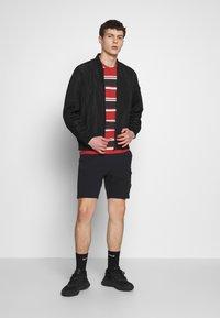 Nike Sportswear - STRIPE TEE - Camiseta estampada - white/university red/black - 1
