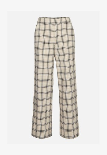 Trousers - white pepper check