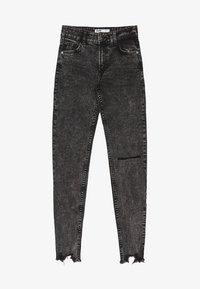 Bershka - LOW WAIST - Jeans Skinny Fit - grey - 5