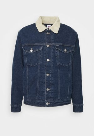 OVERSIZE SHERPA - Denim jacket - dark blue
