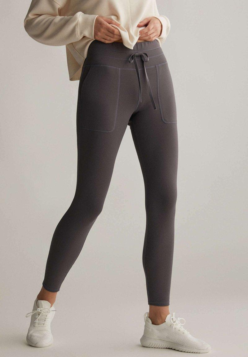 OYSHO - COMFORT - Collants - dark grey