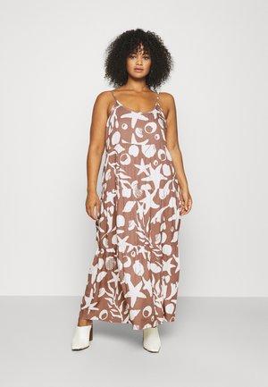 CAMI STRAP TIERED DRESS - Maxi dress - brown