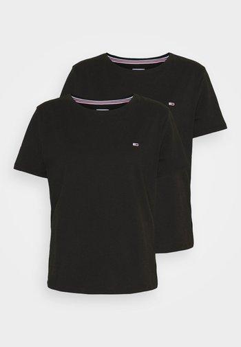 SOFT TEE 2 PACK - T-shirts med print - black/black
