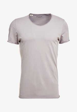 SLHNEWMERCE O-NECK TEE - Basic T-shirt - frost gray