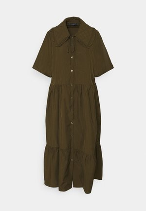 SLFRONDA LONG SHIRT DRESS - Sukienka koszulowa - olive night