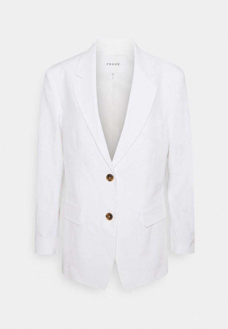 Frame Denim - GRANDFATHER JACKET - Krátký kabát - suiting white