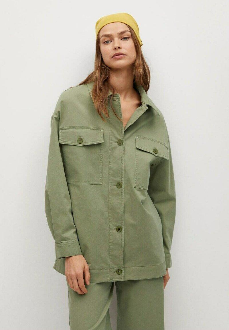 Mango - Summer jacket - khaki
